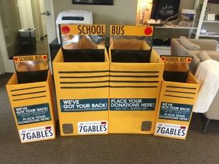 Handmade donation boxes.